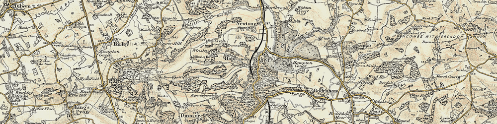 Old map of Winsley Hill in 1900-1901