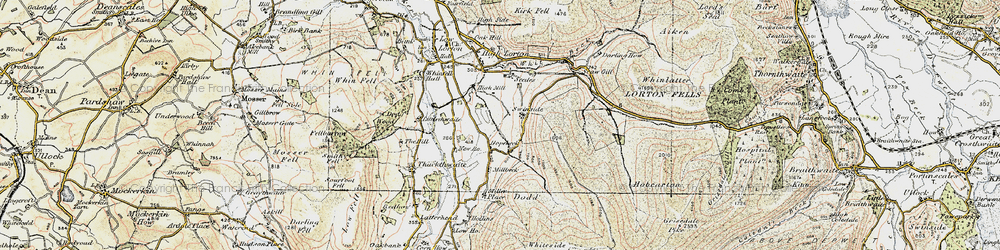 Old map of Whinlatter Pass in 1901-1904
