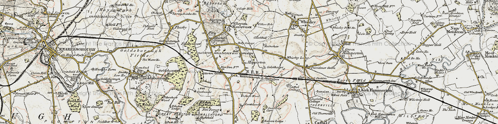 Old map of Whixley Lodge in 1903-1904
