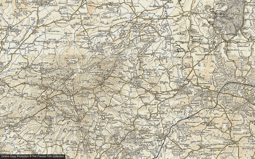 Old Map of Historic Map covering Woodhouse in 1901-1902