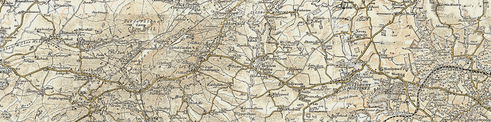 Old map of Woodhouse in 1901-1902