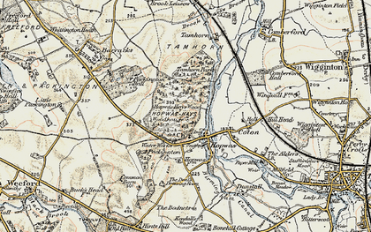 Old map of Hopwas in 1901-1902