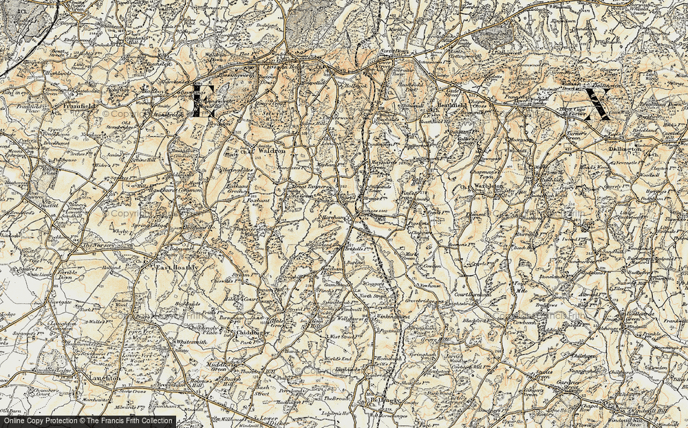 Old Map of Horam, 1898 in 1898
