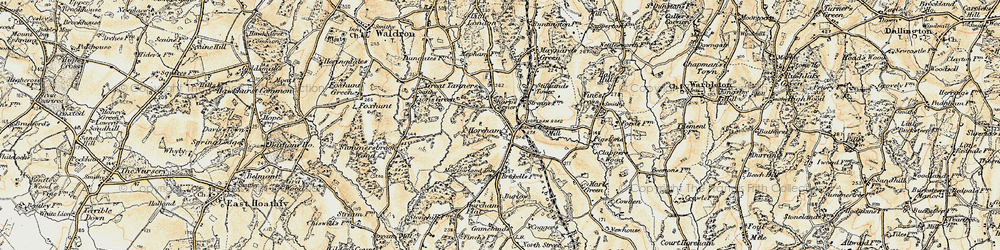 Old map of Horam in 1898