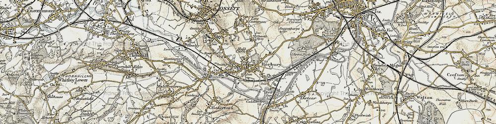 Old map of Horbury in 1903