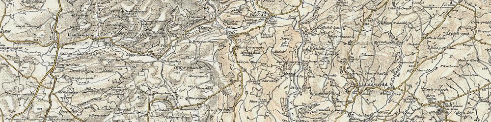 Old map of Aber-Goleu in 1900-1901