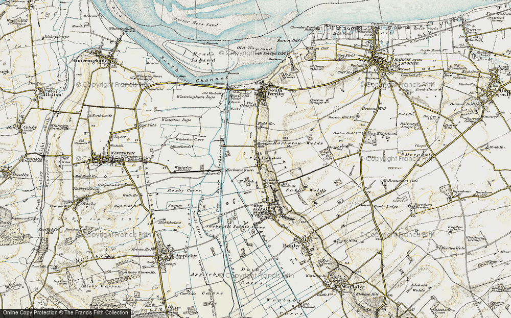 Old Map of Horkstow, 1903-1908 in 1903-1908