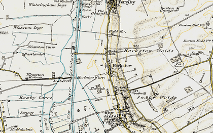 Old map of Winterton Carrs in 1903-1908