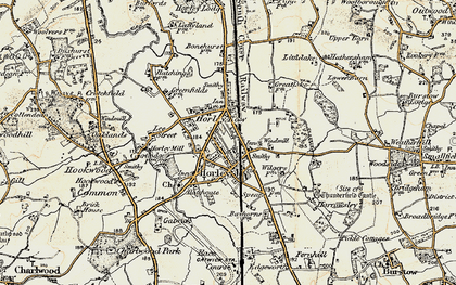 Old map of Horley in 1898-1909