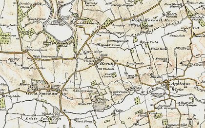 Old map of West Worsall in 1903-1904