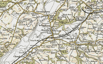 Old map of Hornby in 1903-1904