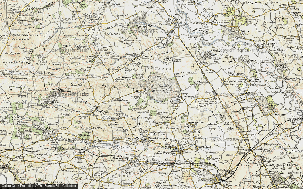 Old Map of Historic Map covering Abour Hill in 1904