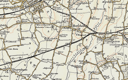 Old map of Hornchurch in 1898