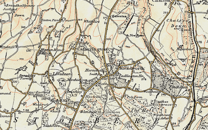 Old map of Horndean in 1897-1899