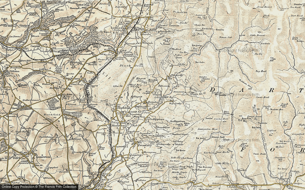 Old Map of Historic Map covering Lane End in 1899-1900