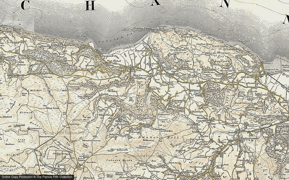 Old Map of Historic Map covering Woodcocks Ley in 1900