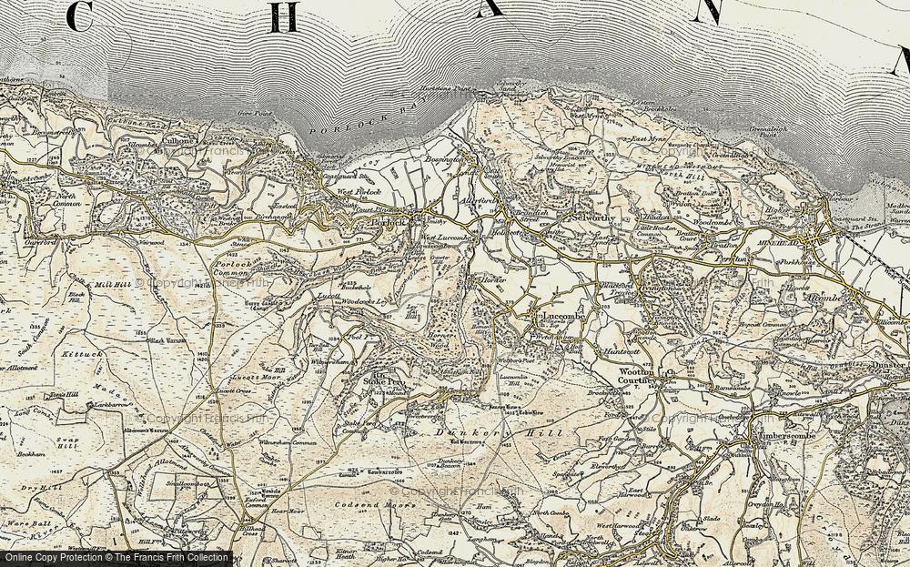 Old Map of Horner, 1900 in 1900