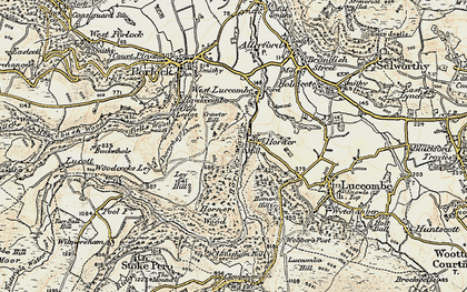 Old map of Horner in 1900