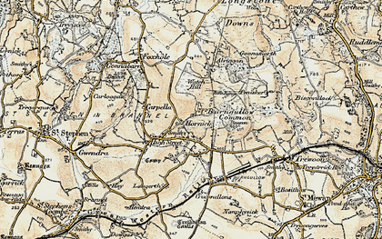 Old map of Hornick in 1900