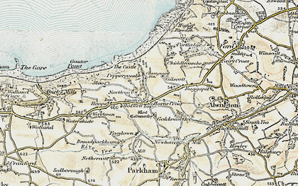 Old map of Horns Cross in 1900