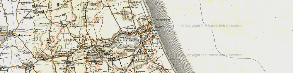 Old map of Hornsea in 1903