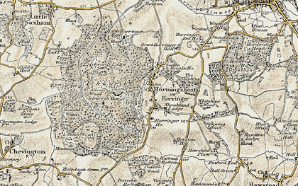 Old map of Albana Wood in 1899-1901