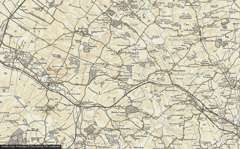 Old Map of Horseheath, 1899-1901 in 1899-1901