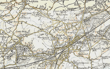 Old map of Horsell in 1897-1909
