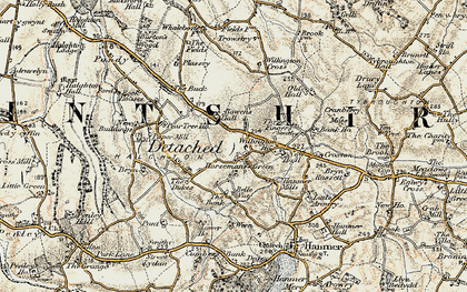 Old map of Willington Cross in 1902