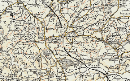 Old map of Wickens in 1898-1902