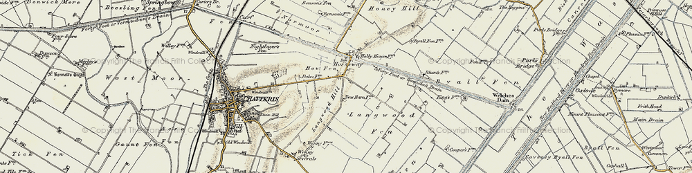 Old map of Langwood Hill in 1901