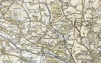 Old map of Horsforth in 1903-1904