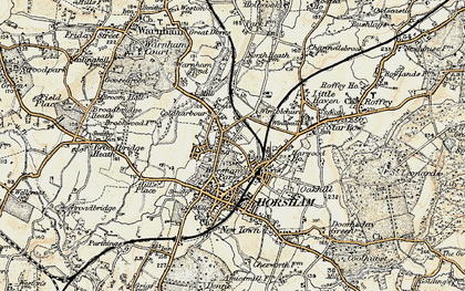 Old map of Horsham in 1898