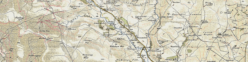 Old map of Yatesfield in 1901-1904