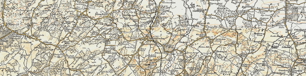 Old map of Horsmonden in 1897-1898