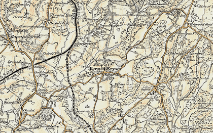 Old map of Wyatts in 1898