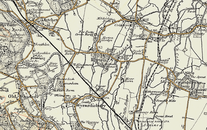 Old map of Wraysbury Reservoir in 1897-1909