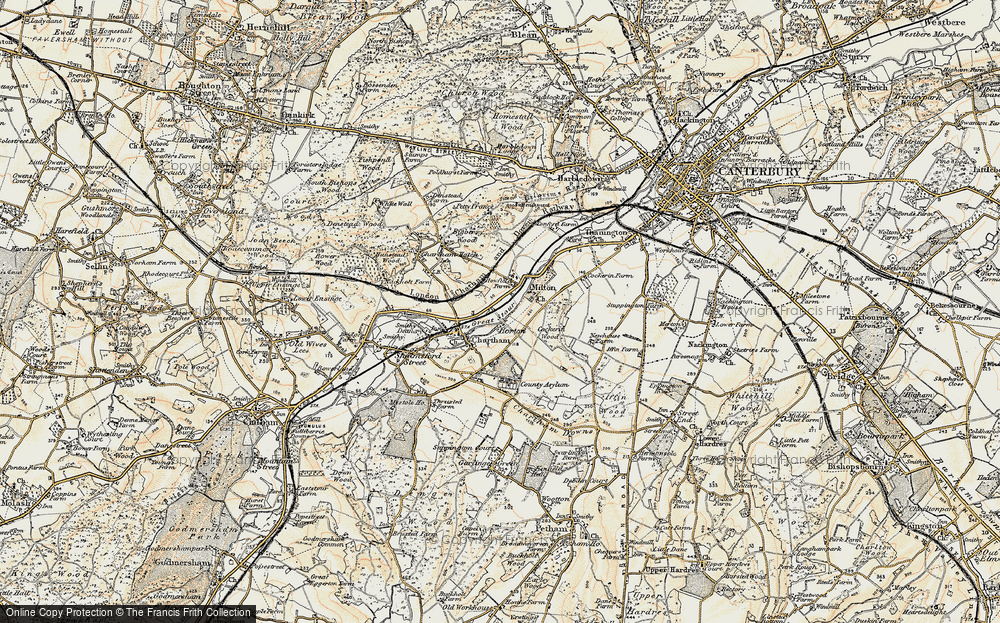 Old Map of Historic Map covering Larkey Valley Wood in 1898-1899