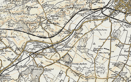 Old map of Larkey Valley Wood in 1898-1899