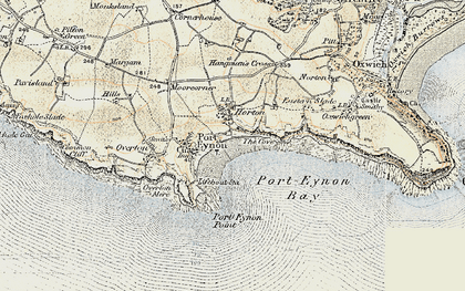 Old map of Horton in 1900-1901