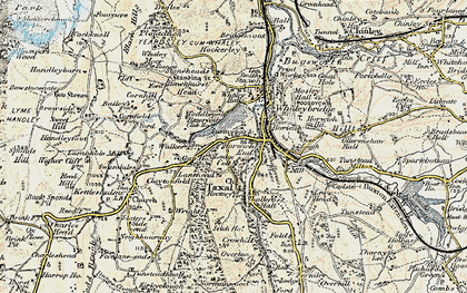 Old map of Horwich End in 1902-1903