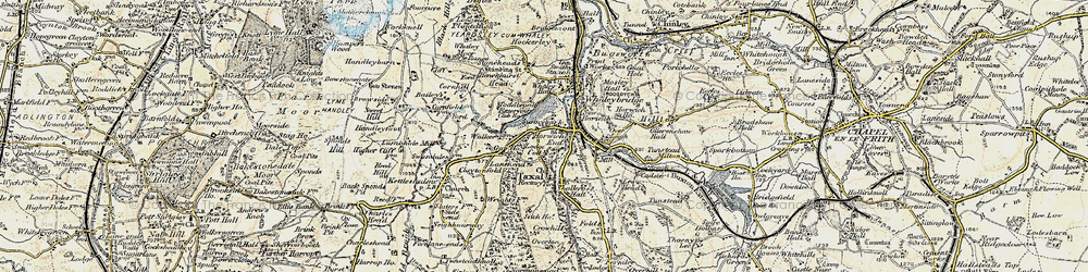 Old map of Whaley Moor in 1902-1903