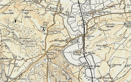Old map of Whiteways Lodge in 1897-1899