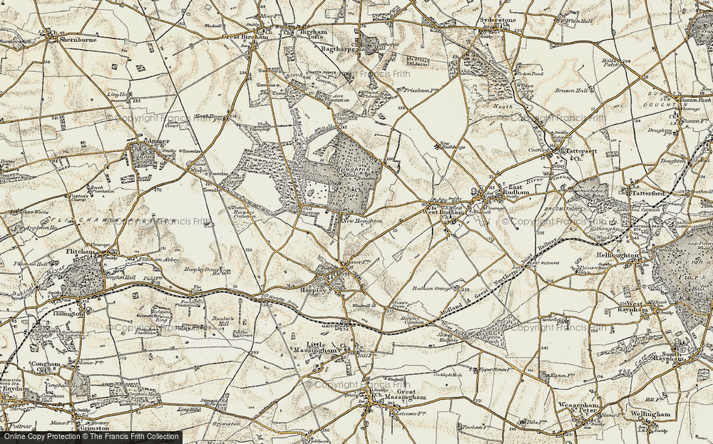 Old Map of Houghton, 1901-1902 in 1901-1902