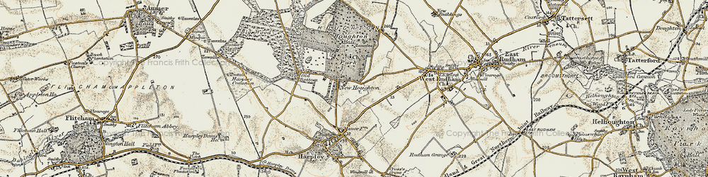 Old map of Houghton in 1901-1902