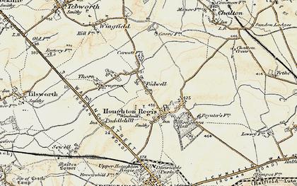 Old map of Houghton Regis in 1898-1899