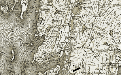 Old map of Wind Hamars in 1911-1912