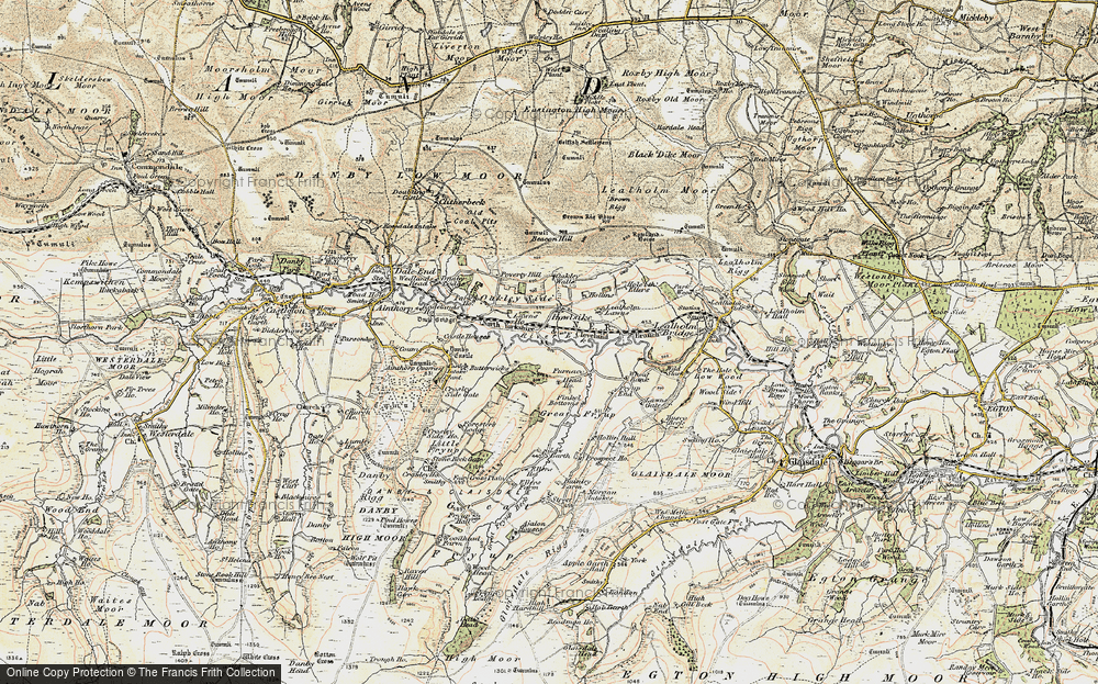 Old Map of Historic Map covering Wheat Bank in 1903-1904