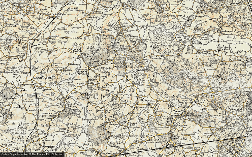 Old Map of Historic Map covering Alder Moor Copse in 1897-1909