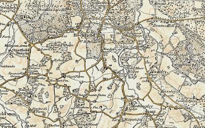 Old map of Alder Moor Copse in 1897-1909